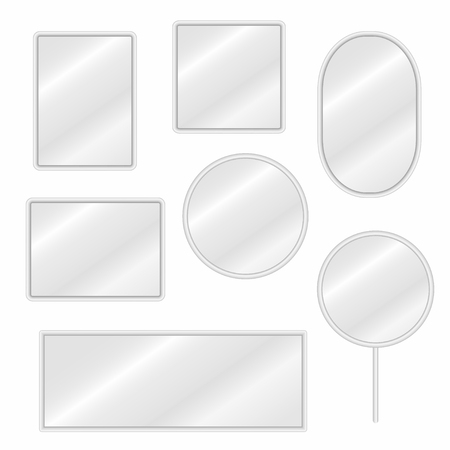 mirror reflection different clipart. mirrors set in different forms with blurry reflection. royalty free cliparts, vectors, and stock illustration. image 83739809. mirror reflection clipart