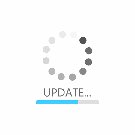 Update icon. System software upgrade concept, loading bar. Vector
