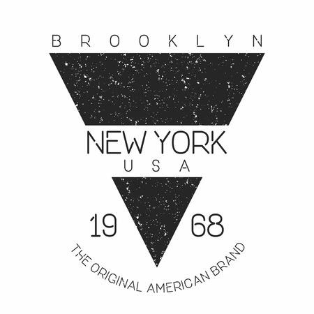 Nueva York, tipografía moderna de Brooklyn para impresión de camiseta. Gráficos de la camiseta. Vector Foto de archivo - 85564018
