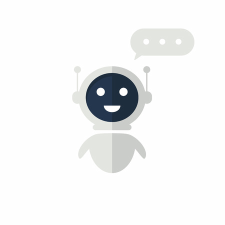 Chat bot icon with speech bubble. Virtual assistant for website. Chat bot concept for customer sevice. Vector 向量圖像