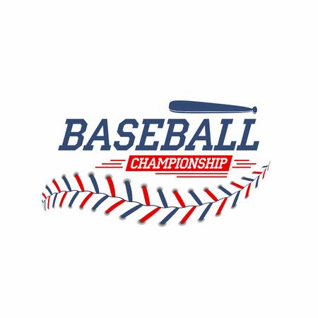 Baseballbal veters, steken textuur met vleermuizen Stock Illustratie