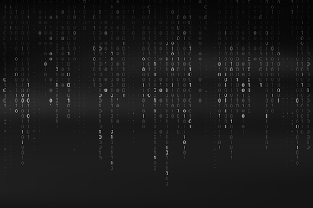 Abstract Binary Code Background Falling Streaming Digital Technology Wallpaper