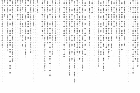 Abstract binary code background. Falling, streaming binary code background. Digital technology wallpaper. Cyber data, decryption and encryption. Hacker background concept. Vector Illustration