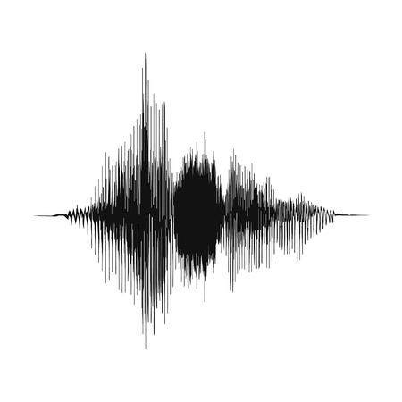 Schallwelle. Sprachaufnahmekonzept und Musikaufnahmekonzept. Amplitude der analogen Audiowelle. Vektor