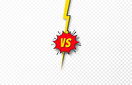 Versus background, VS letters. Concept of battle, fight, comparison and conflict. Versus background template in comic and pop art style. Vector