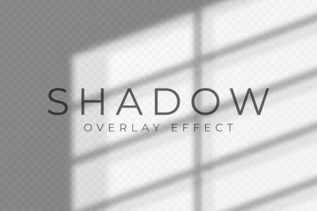 Shadow overlay effect. Transparent soft light and shadows from windows and jalouse. Mockup of transparent shadow overlay effect and natural lightning. Vector Stock Illustratie