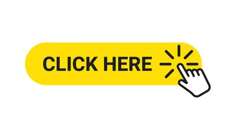 Click here banner. Web button with action of hand pointer. Click here, UI button concept. Vector Ilustrace