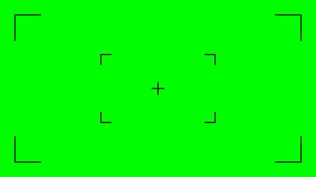 Green screen, chromakey background. Blank green background with VFX motion tracking markers. Chroma key background for keying, motion graphic and video effects. Vector