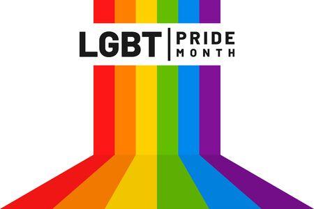 LGBT flag. LGBT pride flag. Human rights, sex orientation and tolerance concept. Rainbow colors. Vector Illustration