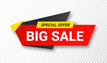 Sale sticker or tag. Sale, discount and special offer, colorful banner. Discount label, offer tag and sale sticker design for advertising and promotion. Vector