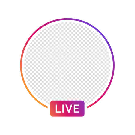 Live video streaming icon for social media. Social media app design element, live streaming, online video. Vector