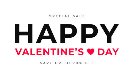 Valentines Day sale banner design. Happy Valentines day background with text for sale banner, promotion, brochure, poster and flyer. Vector
