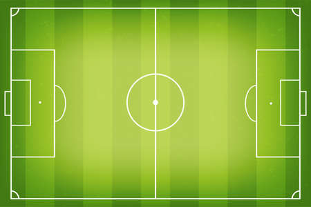 Soccer field, football pitch. Soccer fields in top view. Soccer field or football pitch with marking isolated on white background. Vector 向量圖像