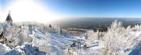 Panoramic winter landscape