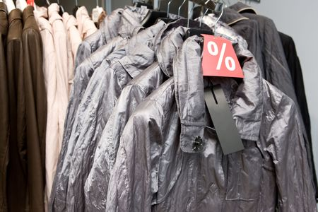 outerwear: Outerwear on sale Stock Photo