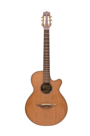 Classic guitar isolated on white Stock Photo