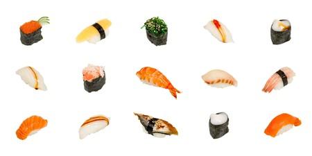 Sushi isolated on white Stock Photo