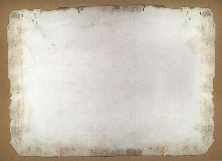 Burnt ancient frame paper