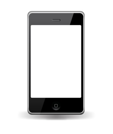 smart phone  with touchscreen Editorial