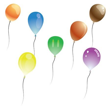 balloons isolated on white background Illustration