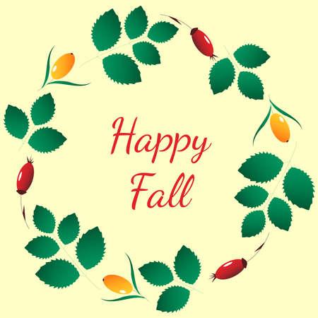 Card happy fall
