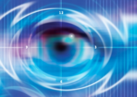 eye closeup: digital eye sensor