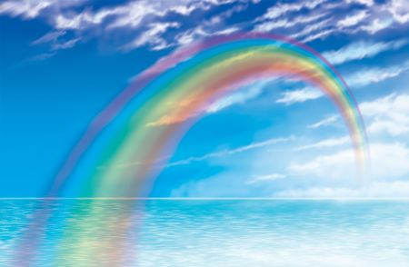 blue sky thinking: rainbow flying
