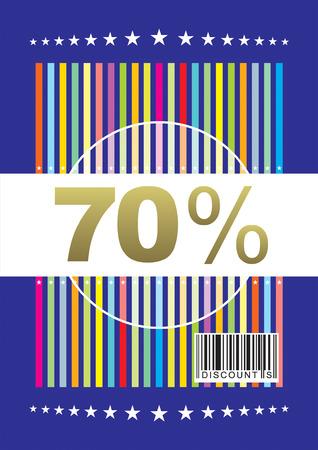 context: vector file 70percent discount design