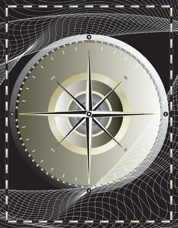 wind wheel: disegno vettoriale file_ bussola Vettoriali
