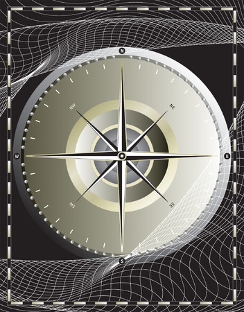 위도: vector file_ compass design
