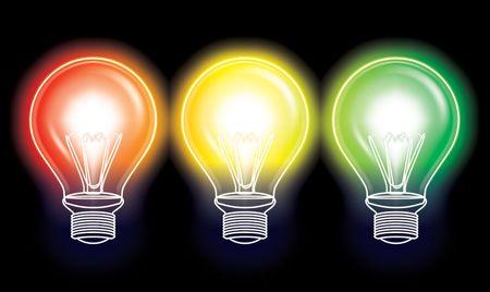 traffic light bulb concept photo