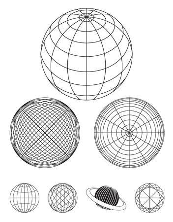 atlas: Globe outline drawing
