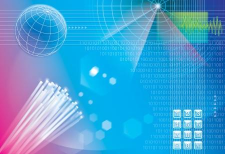 programme: technology connetion background Stock Photo