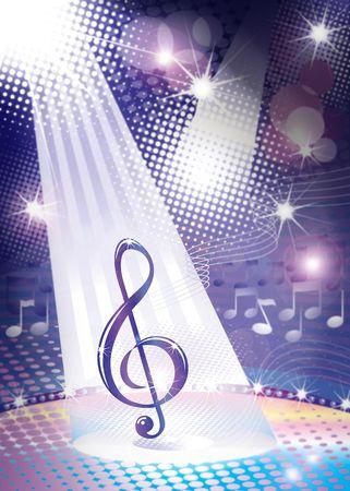 tune: illustration of music concept Stock Photo