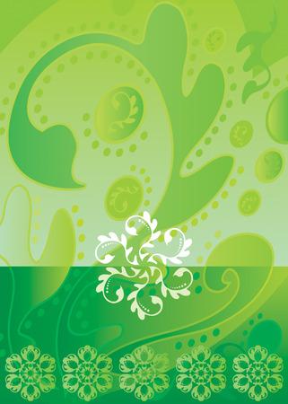 vector file of green color Batik design Stock Vector - 2112749