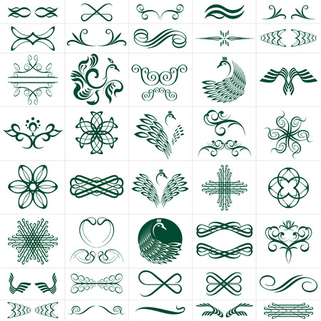 vector file of elements, more than 30 designs Stock Vector - 2121346