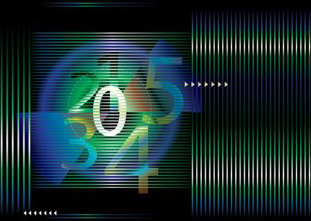 sensores: ilustraci�n vectorial archivo concepto de n�mero de cuenta