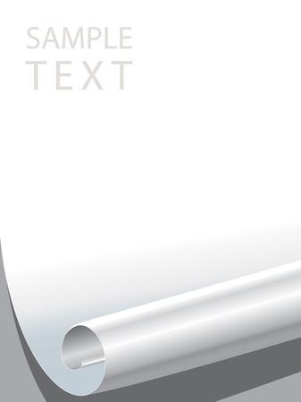 blank paper corner bended Stock Vector - 2246771