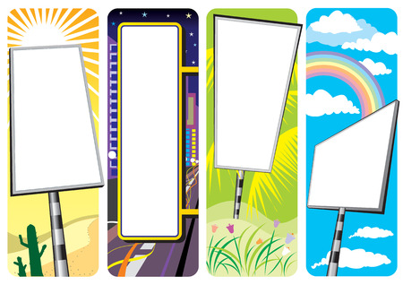 vector file of four different type signboard
