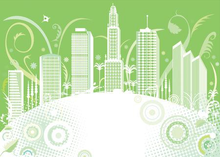 vector file of green color city design Vector