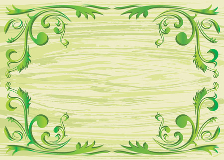 vector file of plant element and texture background Vector