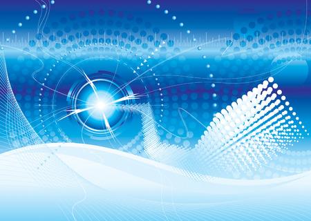 sensores: vector el archivo del fondo azul del color de la tecnolog�a futurista