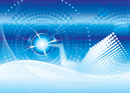 vector file of futuristic technology blue color background Vector