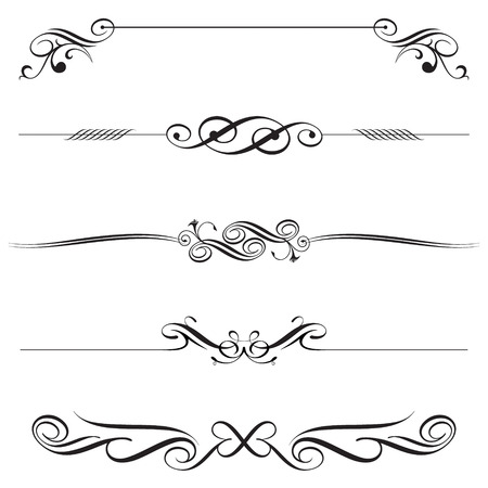 horizontal: vector file of horizontal elements decoration design