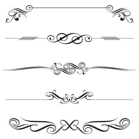 dossier de vecteur de conception horizontale de décoration d'éléments