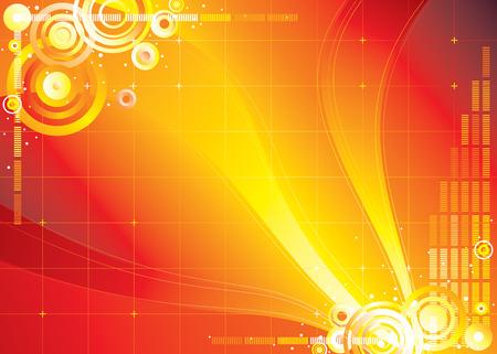 sensores: archivo del vector del fondo del infinito del color rojo Vectores