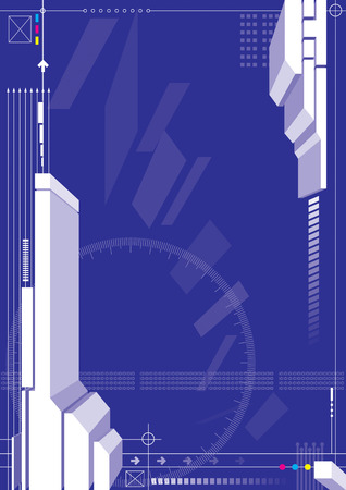 vector of blue color 3d structure design Vector
