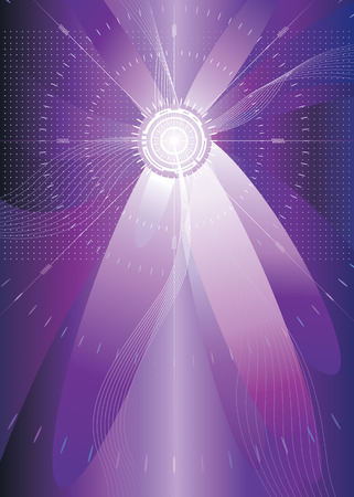 sensores: color p�rpura futurista de fondo, ilustraci�n vectorial, 426mmx304mm  Vectores