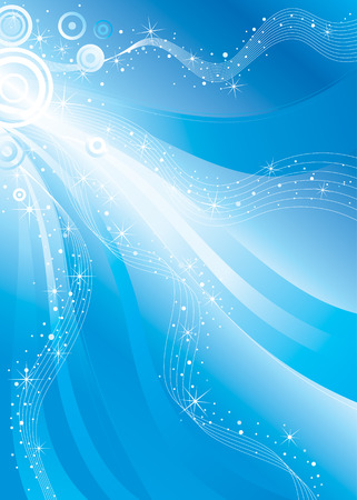 vector background design, shiny stars flowing space Ilustrace