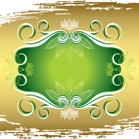 vector illustration of flora frame and texture background Vector